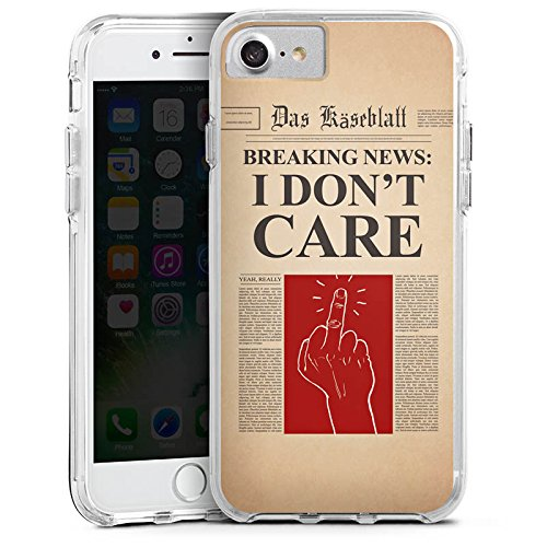 Apple iPhone 6s Plus Bumper Hülle Bumper Case Glitzer Hülle News Saying Phrase Bumper Case transparent