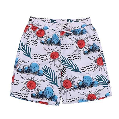 Prime day shorts,kurze Herren Hose Herren Sommer Sport Shorts New Style Swim Short Lässige Mode Print Lose Quick Dry Lässige Surf Beach Shorts von Evansamp(Weiß,XXXXL) -