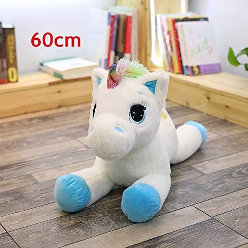 CGDZ 40-110 cm Kuscheltier Babypuppen Kawaii Cartoon Regenbogen Einhorn Plüschtiere Kinder Geschenk Spielzeug Kinder Baby Geburtstagsgeschenk 60 cm blau