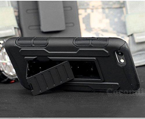 iPhone 6S Plus / iPhone 6 Plus Coque, Cocomii® [HEAVY DUTY] iPhone 6S Plus / iPhone 6 Plus Robot Case **NOUVEAU** [ULTRA AVENIR ARMOR] Étuis De Ceinture Premium Kickstand Bumper Case [DÉFENSEUR MILITA Black