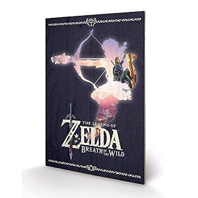PYRAMID - Panneau en Bois Zelda BOTW Silhouette