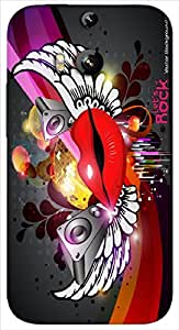 Timpax Protective Hard Back Case Cover With Easy access to all ports Printed Design : Music and kiss.Precisely Design For : HTC-M8 ( M-Eight)