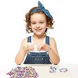 Perles pour Enfants,DIY Perles Plastique Coloré 24 Compartiments Kit De Loisirs Créatifs L'atelier De Bijoux Fabrication de Bracelet Collier en PVC Box comme cadeau pour les enfants filles 400 pièces