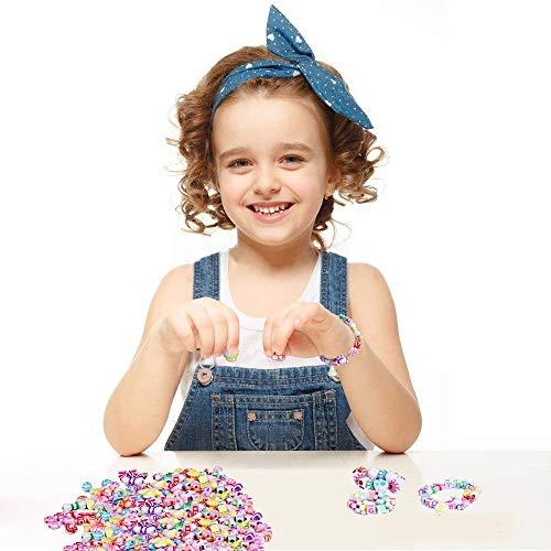 Perles pour Enfants,DIY Perles Plastique Coloré 24...
