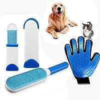 ZHOUZEKAI Cepillo de limpieza para mascotas * 1 +Cepillo de limpieza de mascotas Cepillo para peinar, peinar y pelar, para quitar el vello con autolimpieza, quitar el pelo del gato para perros (Azul)