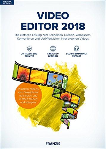 FRANZIS Video Editor 2018|2018|Die einfache Lösung zum Schneiden, Drehen, Verbessern, Konvertieren und Veröffentlichen Ihrer eigenen Videos|Windows 10 / 8.1 / 8 / 7|Für PC|Disc|Disc -
