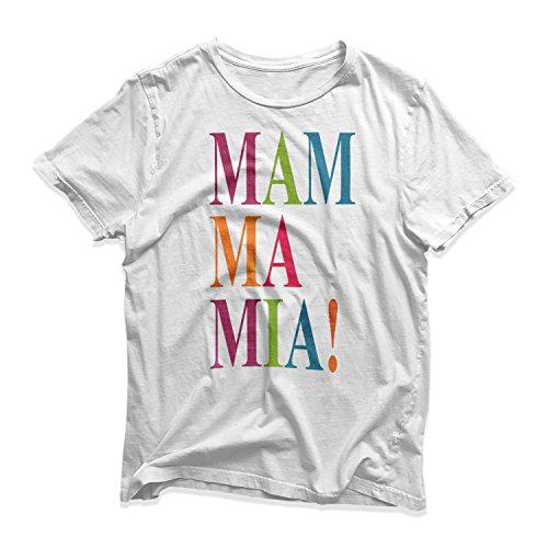 Mamma Mia Adults White T-Shirt, S to 3XL