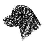 Schecker-Autoaufkleber Hundeaufkleber ideal für helle Autos Labrador Retriever, schwarz