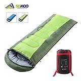 Semoo Schlafsack 200x70cm, 3 Jahreszeiten Deckenschlafsack (von 6 bis 22 °C), leichter wasserdichter Sommerschlafsack, für Outdoor Camping Wandern