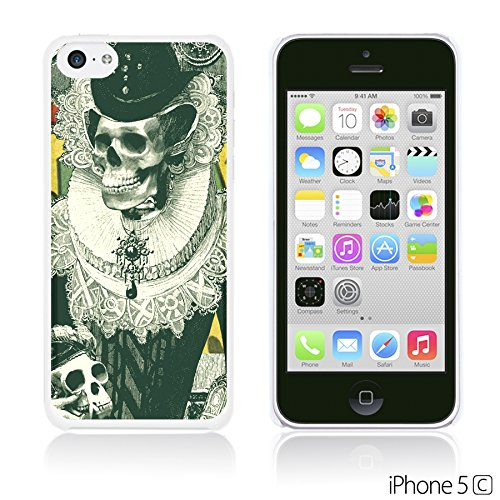 OBiDi - Skull Paintings Hardback Case / Housse pour Apple iPhone 5C - Gentlemen Sugar Skull Designed Black skull Illustration