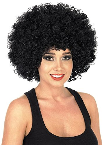 Fun Shack Herren Costume Kostüm, Afro Wig Black, ()