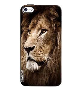 Omnam Lion Face Printed Designer Back Cover Case For Apple iPhone 4/4s