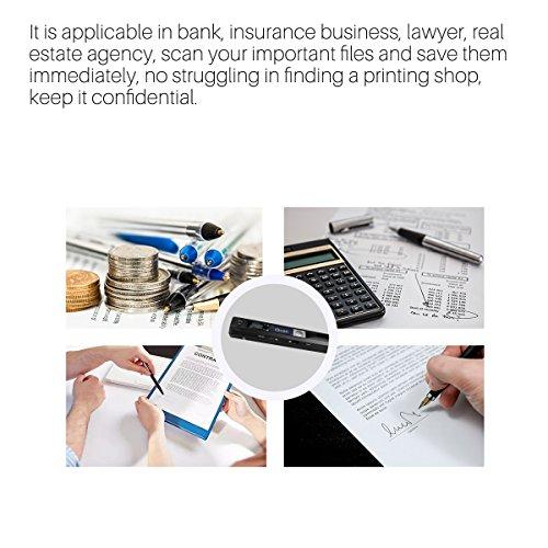 AOZBZ Portable Document Scanner Dokumentenscanner, 900DPI Mobile USB Handscanner A4 Farb Photo Scanner Handy Scan (JPG/PDF-Format, Hochgeschwindigkeits-USB 2,0,Brauchen Micro SD/TF Card aber Nicht Inbegriffen) - 6