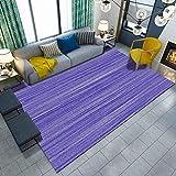 DAMENGXIANG Moderne Einfache Lila Abstrakte Linie Druck Teppich Für Wohnzimmer Couchtisch Schlafzimmer Matte Rutschfeste Bodenmatte Wohnkultur 60 × 90 cm