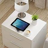 FENGFAN Designer Beistell Tische Multifunktionale Hebebett Side Laptop Nachtschrank Side Cabinet Schreibtischschublade Tisch (Farbe : Weiß)