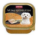 Animonda vom Feinsten Adult mit Schlemmerkern, Nassfutter für ausgewachsene Hunde von 1-6 Jahren, mit Huhn, Joghurt + Haferflocken, 22er Pack (22 x 150 g)
