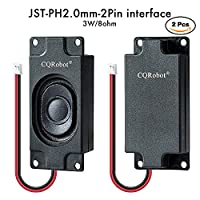 CQRobot DIY Open Source Electronics, Arduino Speaker 3 Watt 8 Ohm, JST-PH2.0 Interface. It is Ideal for a Variety of Small Electronic Projects.