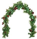 Britesta Girlande: Deko-Tannengirlande, geschmückt, beleuchtet mit 20 LEDs, 180 cm (Weihnachtsgirlanden)