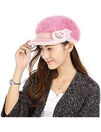 Fletion Cappello invernale da donna cappello invernale in pelo di coniglio 4b2b78a328e0