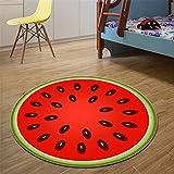 Jiahe Fruit Elk Round Rug Tapis de Sol pour Chambre à Coucher Kids Play Carpet-Plusieurs Tailles,B,100CM