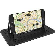 Ipow Silikon Handyhalterung Antirutschmatte Auto & Haus Doppelzweck Handy Ständer, mehrfunktional für kfz Armaturenbrett, Büro Schreibtisch
