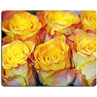 Liili mouse pad Natural rubber Mousepad Close Up background of Beautiful Fresh Yellow rose Buds in una stretta ricco bouquet con Shallow Dof Image ID