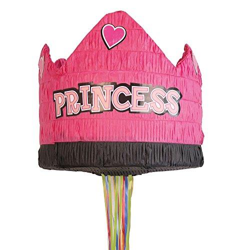 Amscan 9903136 Pull Pinata Prinzessinnen Krone Spielzeug Mehrfarbig