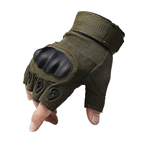 KT-SUPPLY Motorrad Handschuhe kurz für Painball Airsoft Militär und taktischen Aktivitäten Armeegrün M