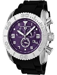 Swiss Legend sl-20066-011b - Reloj cronógrafo de cuarzo para hombre con correa de silicona, color negro
