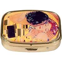 Fridolin 18281Klimt Der Kuss 5.1x 12x 6cm, mehrfarbiges Metall Pillendose preisvergleich bei billige-tabletten.eu