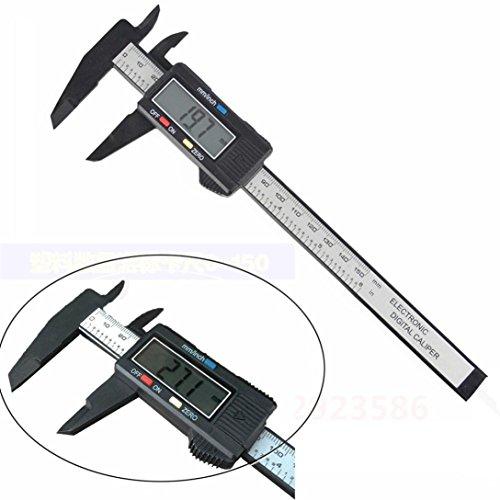 Yogogo 150MM 6inch LCD Digital Elektronisch Carbon Fiber Vernier Messschieber Micromet