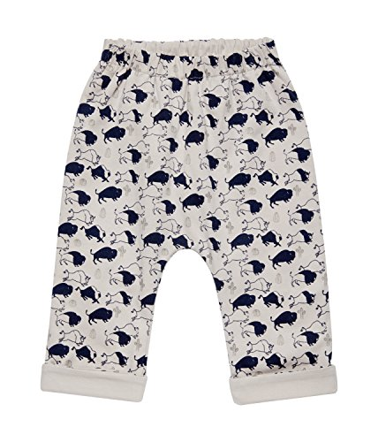 Sense Organics Baby-Jungen Hose Baker Sweatshirthose (Beidseitig Tragbar) Mehrfarbig (Aop Buffalo + Grey Solid 982005), 68 (Herstellergröße: 3M)