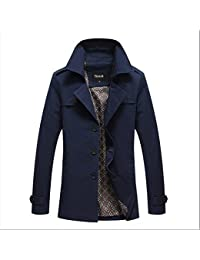 Zicac Trench manches longue casual Homme pour l`automne