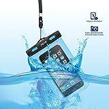 Universal funda resistente al agua, JOTO Cellphone seco bolso de la bolsa para Apple Iphone 6s 6,6S Plus, se 5s 7, Samsung Galaxy S7, S6Note 54, HTC, LG, Sony, Nokia, Motorola hasta 6.0diagonal, color z-Blue, tamaño Up to 6.0 inch diagonal
