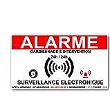 stickers alarme maison-surveillance electronique- 8 x 6 cm