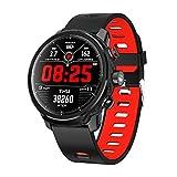 SMAWAFIT WL24 - Smartwatch sportivo e fitness, colore: nero/rosso