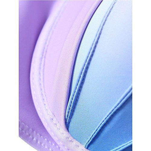 Missy Mermaid Shell Bikini Gradiente Bikini Set costume da bagno imbottito per le ragazze delle donne purple-2