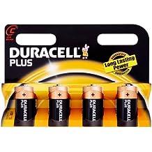 Duracell Pila Plus baby D (LR14) 1,5V, confezione da 4