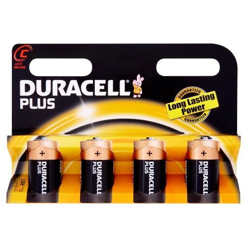 Duracell - 75051872 - Pile Alcaline - C x 4 - Plus