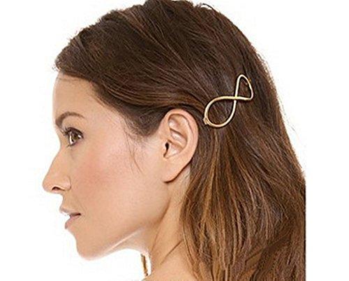 Infini 8 or Barrette à cheveux accessoires cheveux épingles à cheveux bijoux tête bijoux design bijoux