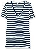 Petit Bateau 28872 - T-Shirt - Femme - Multicolore (Blanc/Bleu) - Taille: L (20 Ans)