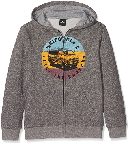 rip-curl-surf-van-hz-fleece-polaire-1-2-zip-garcon-charcoal-marle-fr-12-ans-taille-fabricant-12