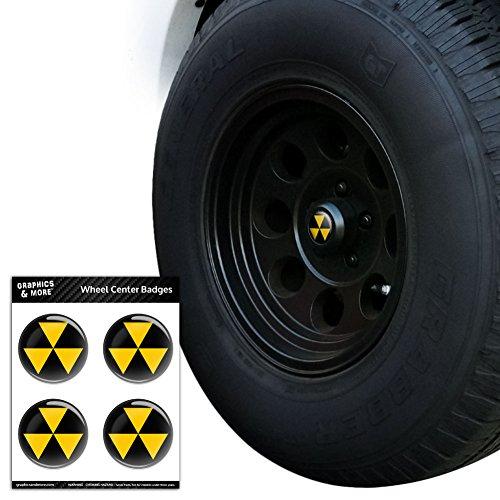 Preisvergleich Produktbild Fallout Shelter Tire Rad Center Gap resin-topped Abzeichen Aufkleber