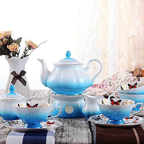 Ensemble de tasse de café / Ensemble de céramique / Ensemble de café papillon Ensemble de 12 têtes / (2 couleurs en option) ( couleur : A )