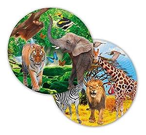 Folat Plato Safari Party, diámetro Aprox. 23 cm, 8 Unidades.