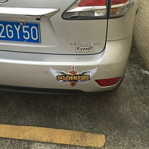 tonywu Heroes League LOL Volle Autoaufkleber Karosserie Seitlich Aufkleber Kapuze Autoaufkleber Waterproof Sunscreen Eine