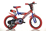 Dino SPIDERMAN Original 16 inch KIDSBIKE boy child-bike childrenbike bicycle toybike blue training-wheels water-bottle mudguard