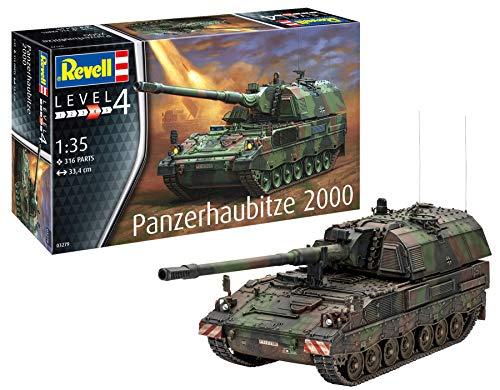 Revell 03279 Panzerhaubitze 2000 originalgetreuer Modellbausatz für Fortgeschrittene, Mehrfarbig, 1/35