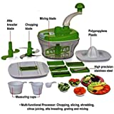 JD Brand Plastic Dough Maker, Vegetable Cutter, Slicer, Dicer, Atta Kneader Food Processer (Multicolour)