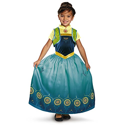 Disguise Anna Frozen Fever Deluxe Costume, One Color, Large (10-12) by - Anna Frozen Fever Deluxe Kostüm